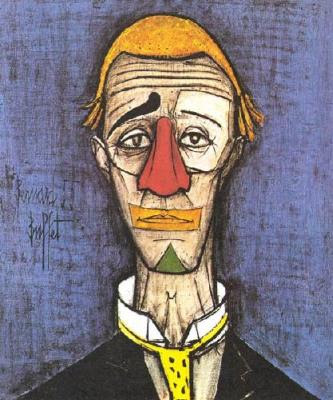 Bernard Buffet Head Of The Clown 2